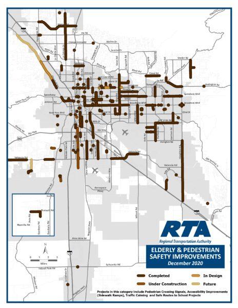 RTA Elderly and Pedestrian Safety Improvement Graphic