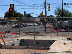 Utility relocation underway on East Grant Road